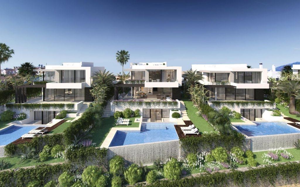 Scandinavian architecture villas in New Golden Mile