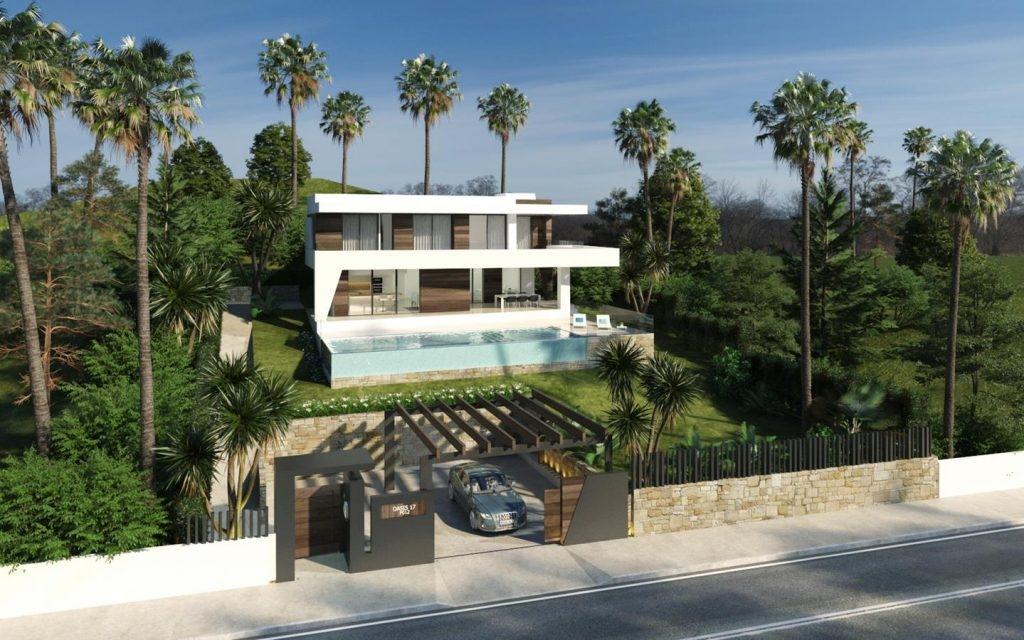 Complex of modern villas near Estepona.