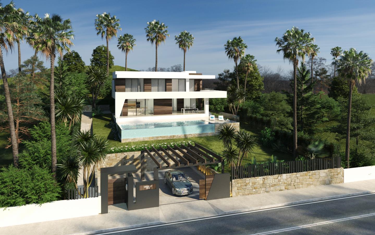 Complejo de villas modernas cerca de Estepona.
