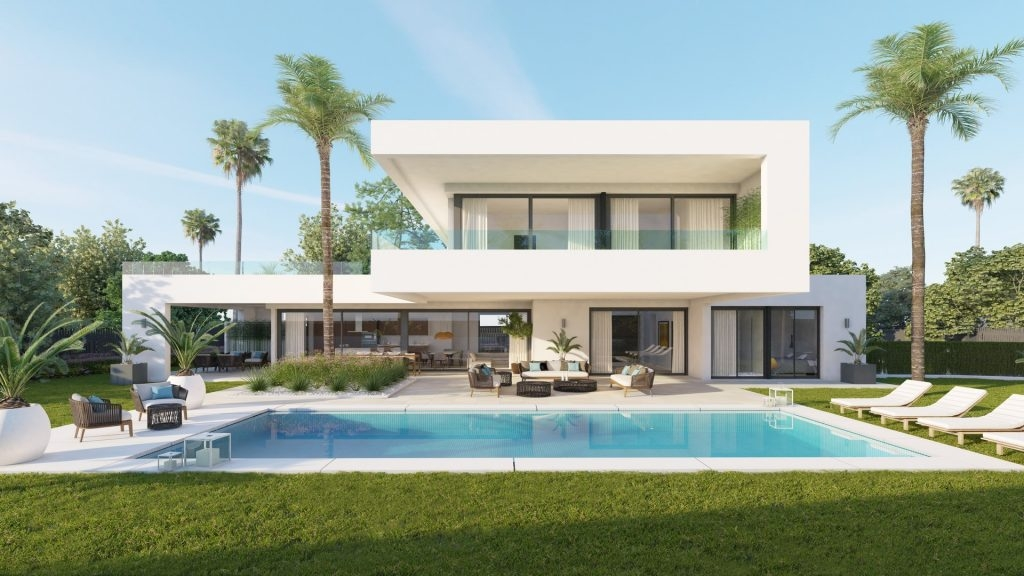 New development of comtemporary villas. Nueva Andalucía.