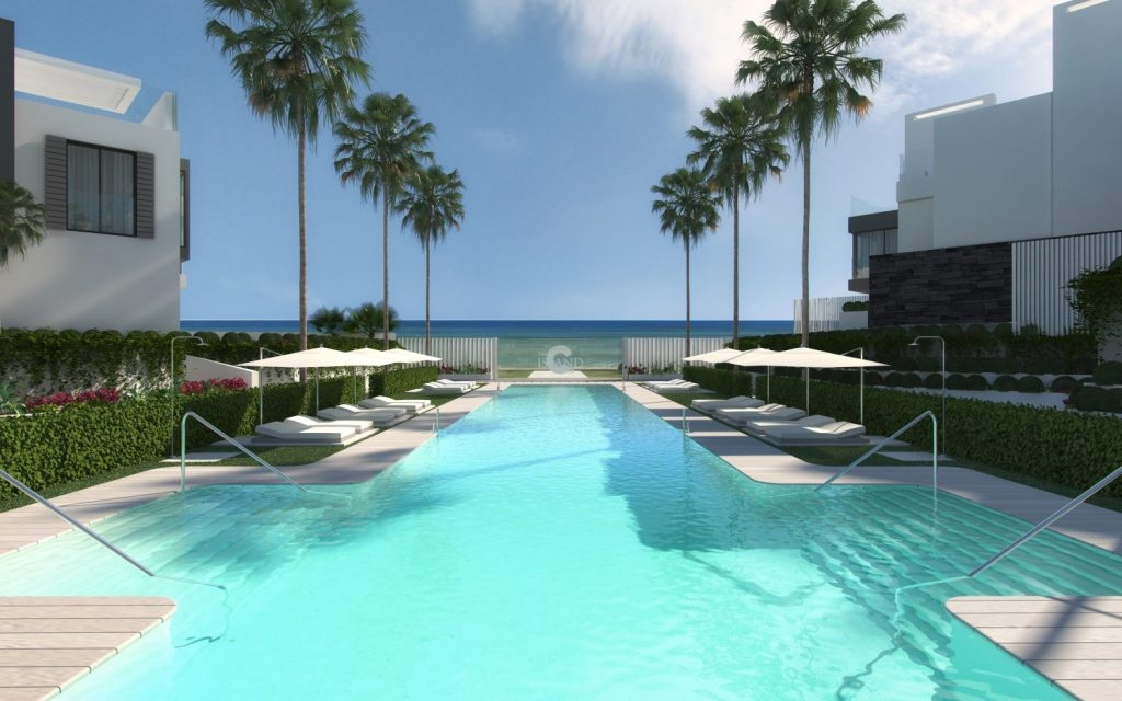 Exclusive townhouses on first line beach near Estepona.