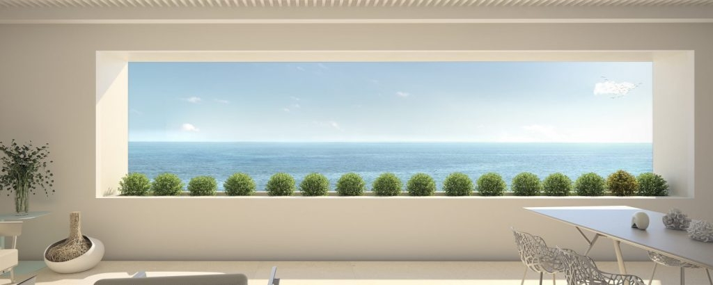 New apartments on the seafront of Estepona.