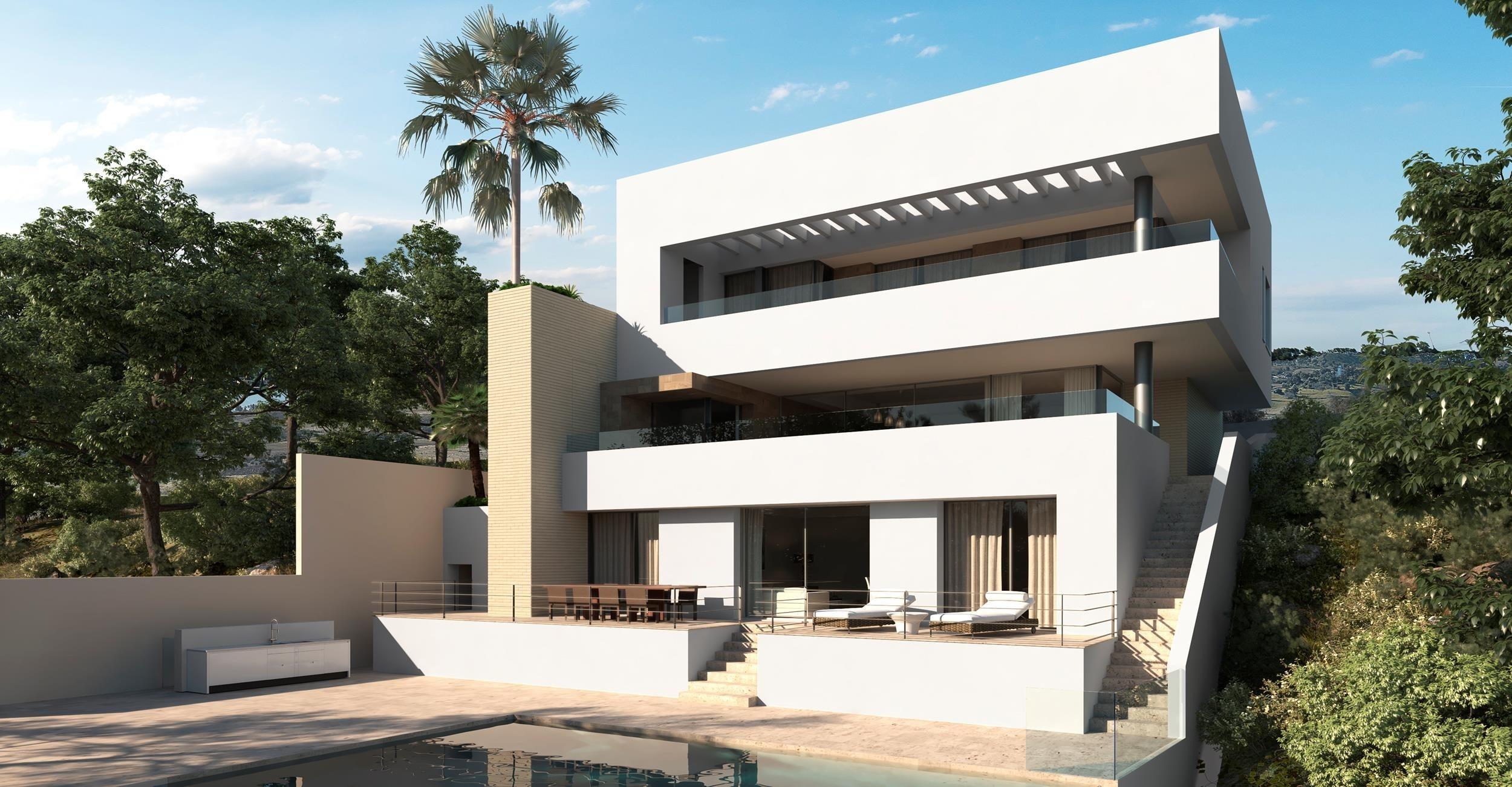 Proyecto de Villa contemporánea en Los Arqueros Golf.