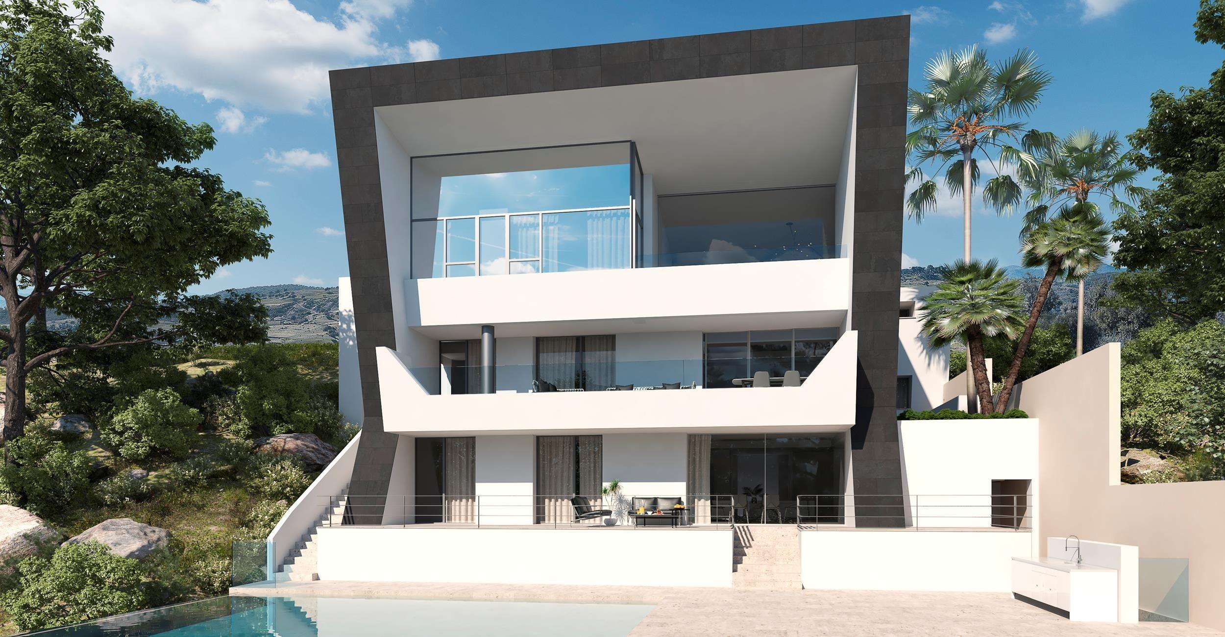 Proyecto dos de Villa contemporánea en Los Arqueros Golf.