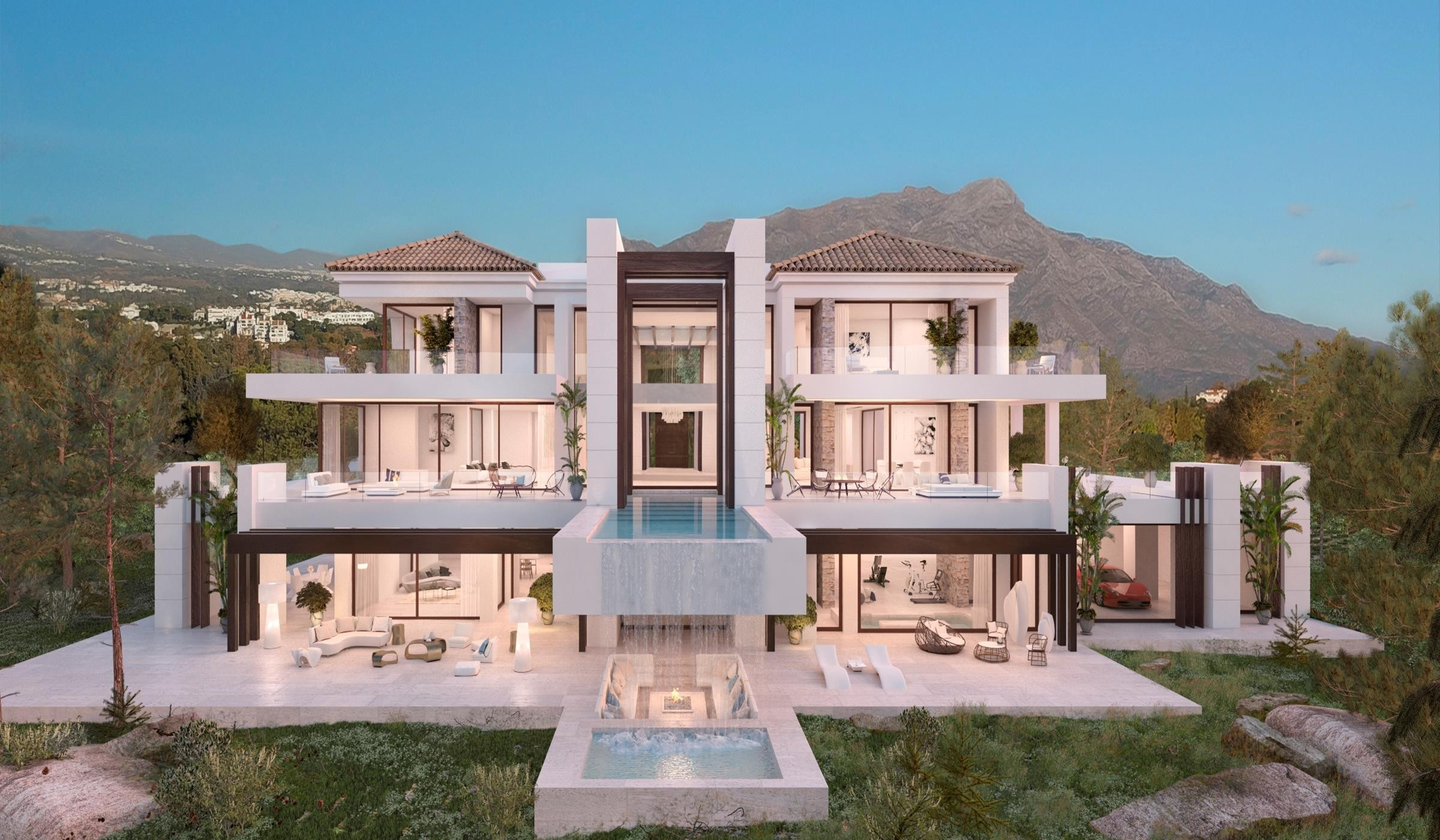 Villa moderna de estilo Andaluz. Benahavis.