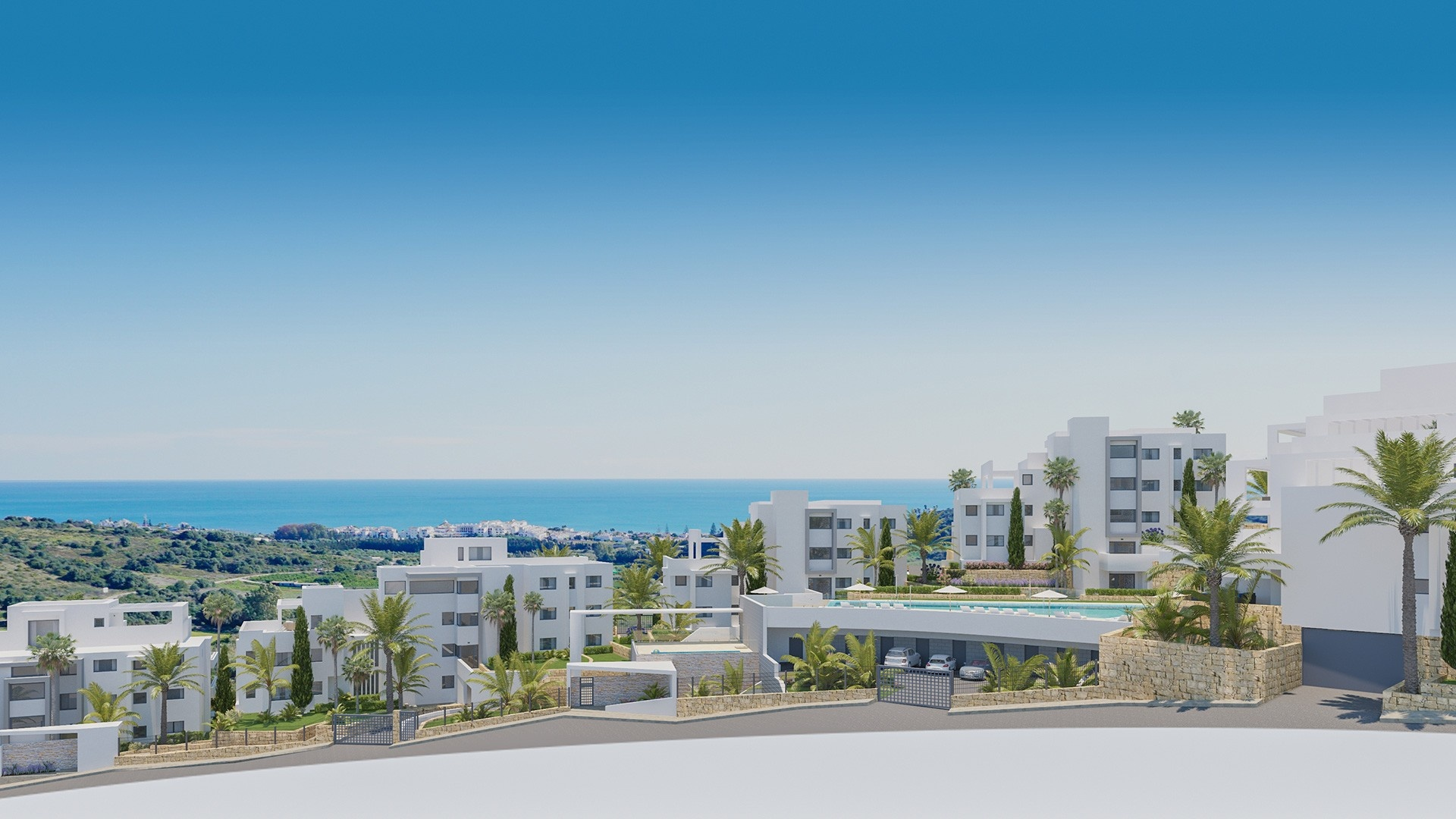 Modernos apartamentos y áticos en Estepona.