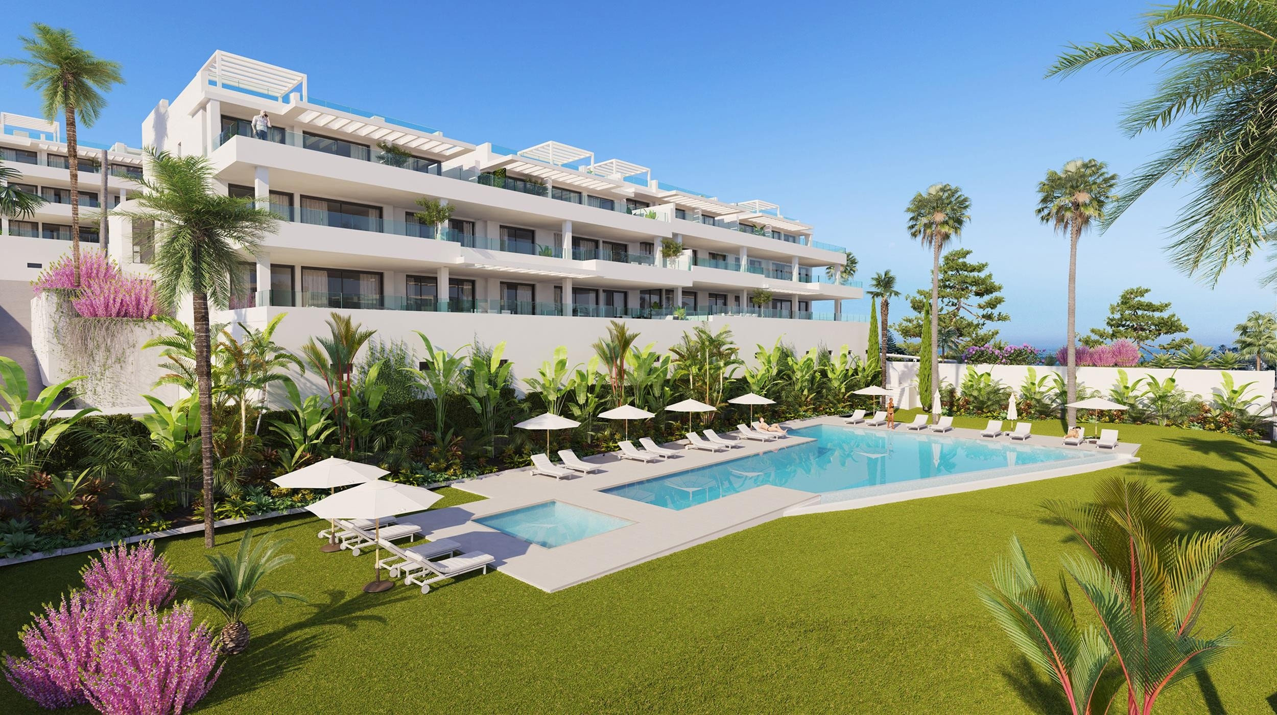 Promotion of modern apartments in Estepona.