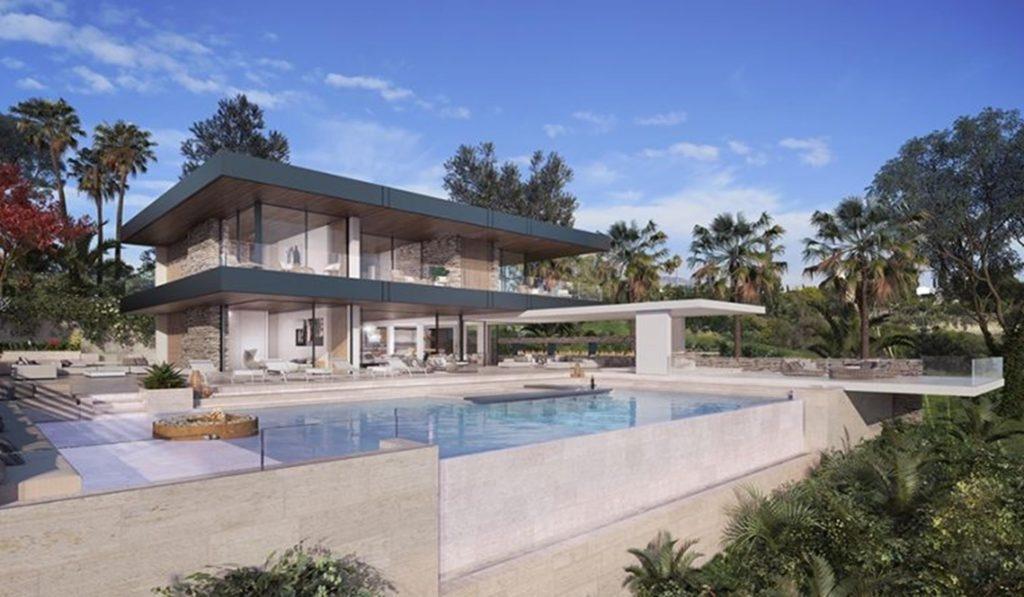 Modern villa gated sea views in Benahavis.