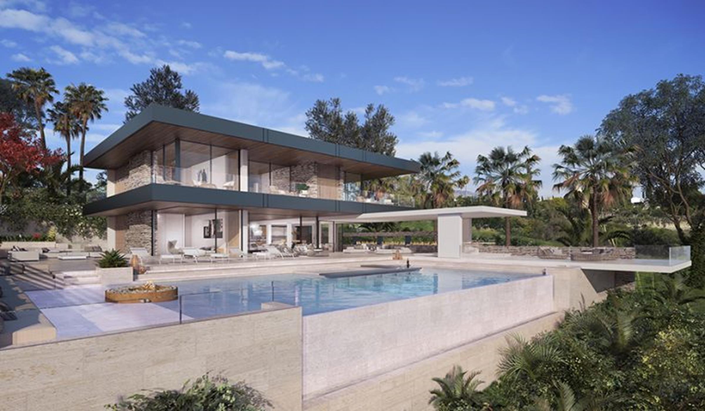 Villa moderna con vistas al mar en Benahavis.