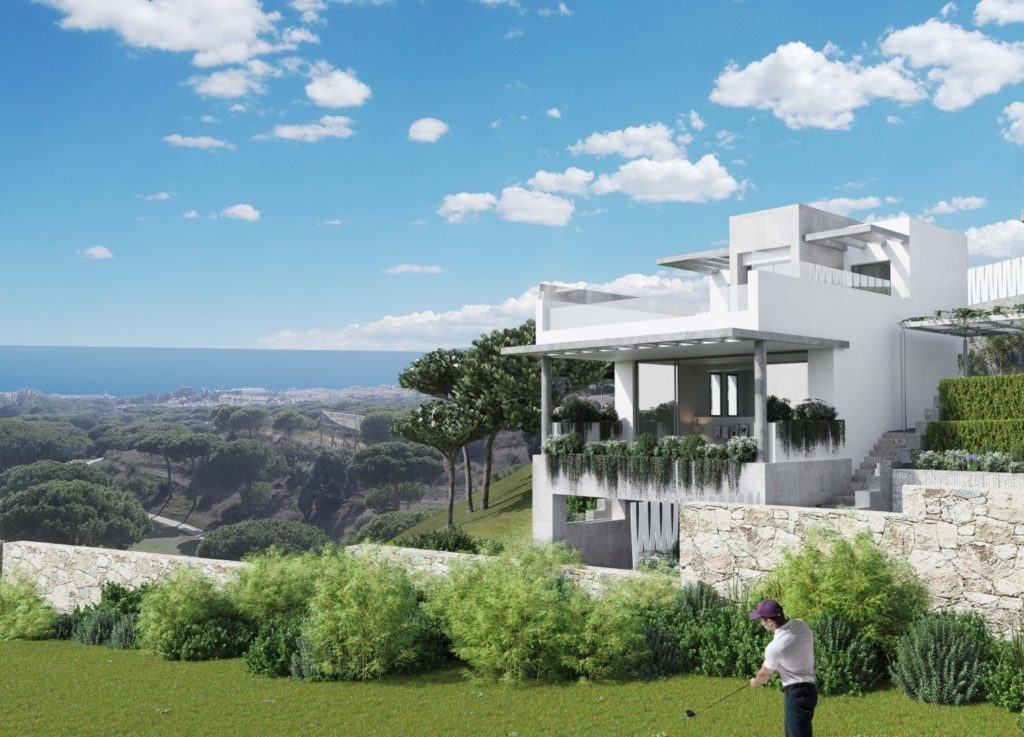 Townhouses in 1st line golf. Cabopino.