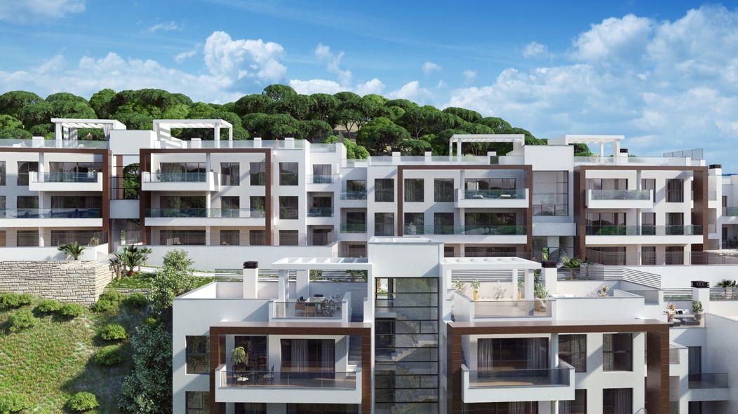 Atractivo complejo de apartamentos y áticos en Benahavis.