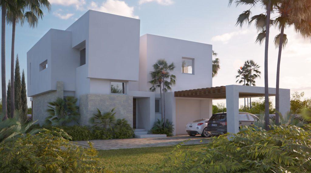 Residencial con villas de lujo en Marbella este.