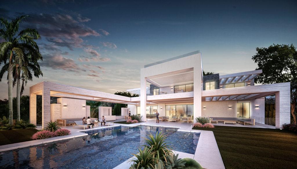 Villa de lujo en 1ª línea de golf en Los Flamingos.
