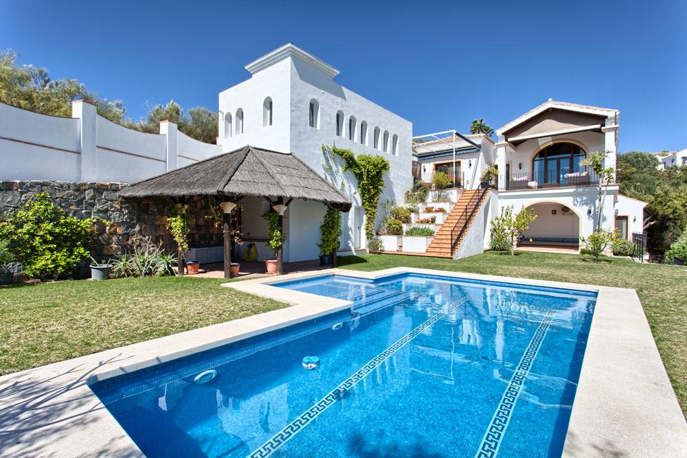 Lonely Mediterranean style villa in Benahavis.