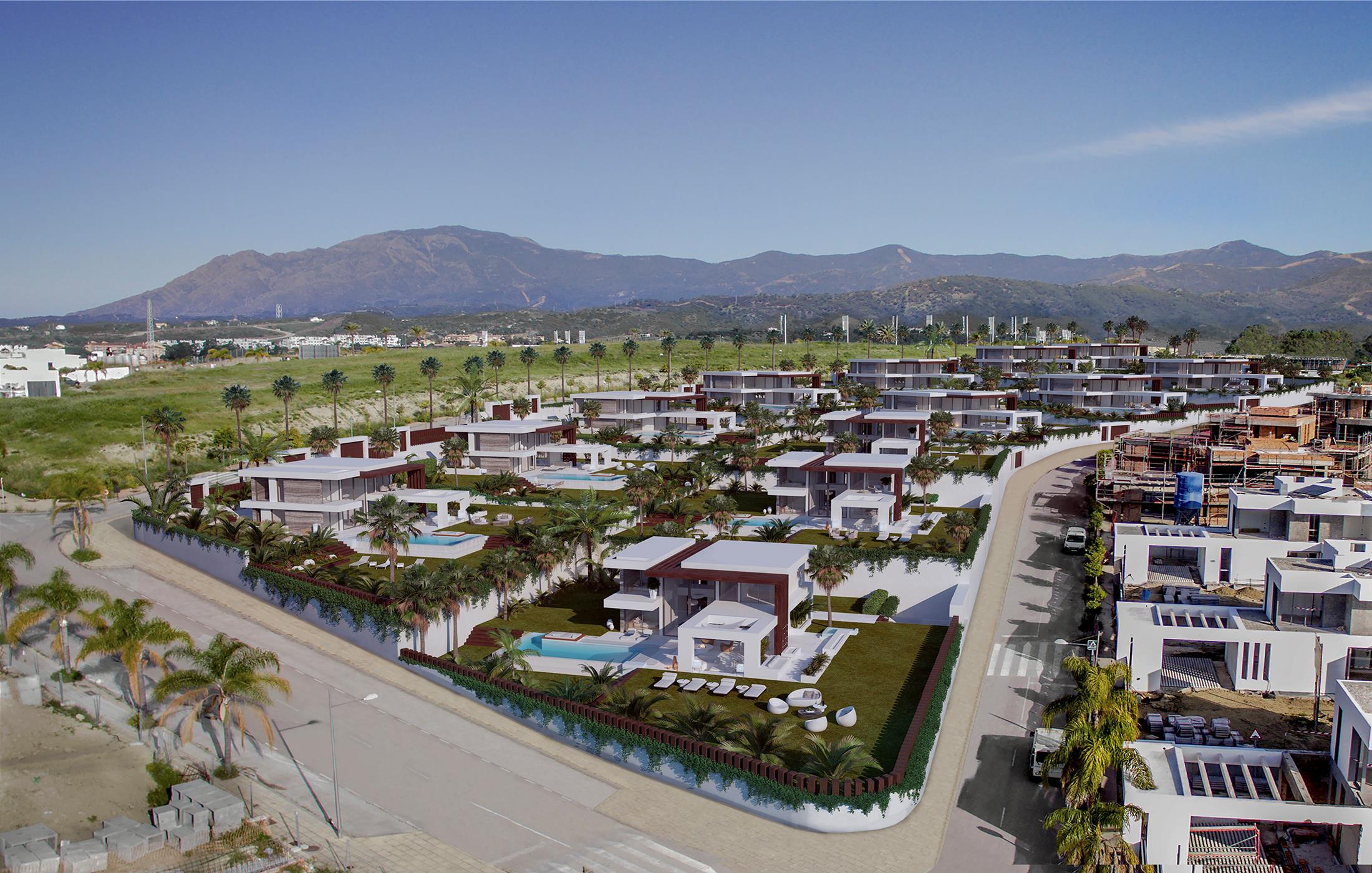 Complex of 12 independent villas of contemporary design in Cancelada