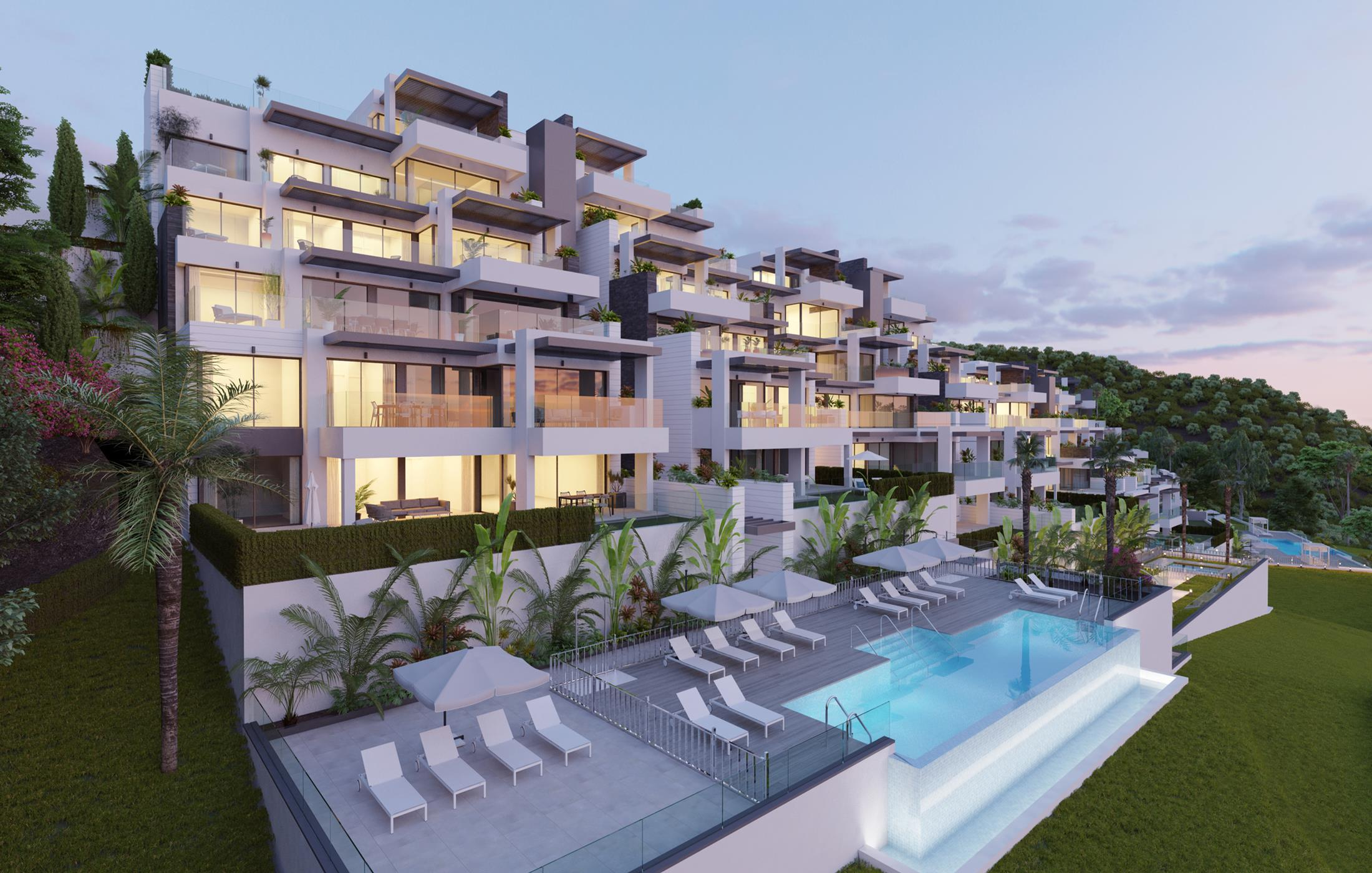 Residencial moderno de lujo en Benahavis.