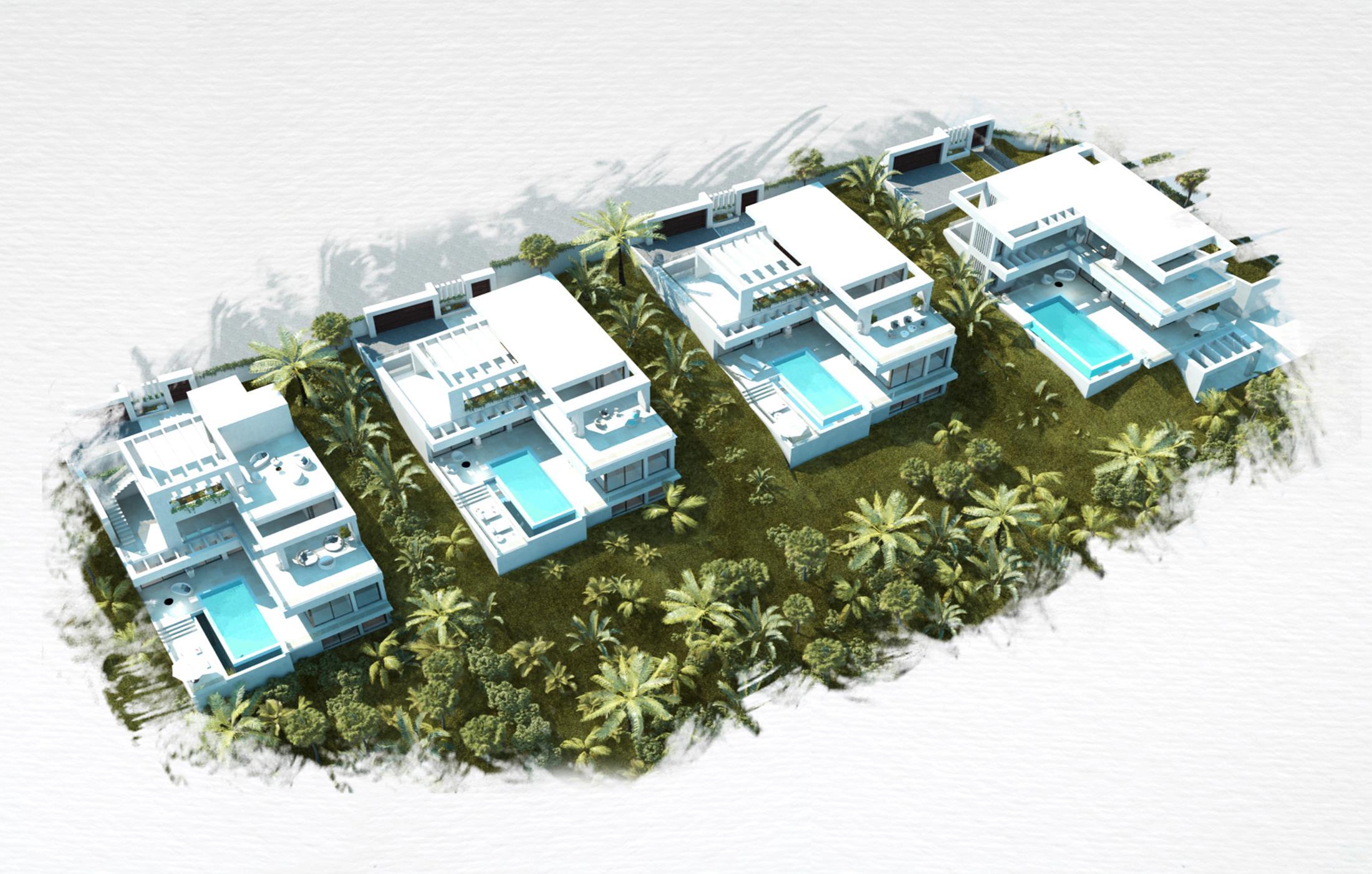 Luxurious complex of villas near Estepona.