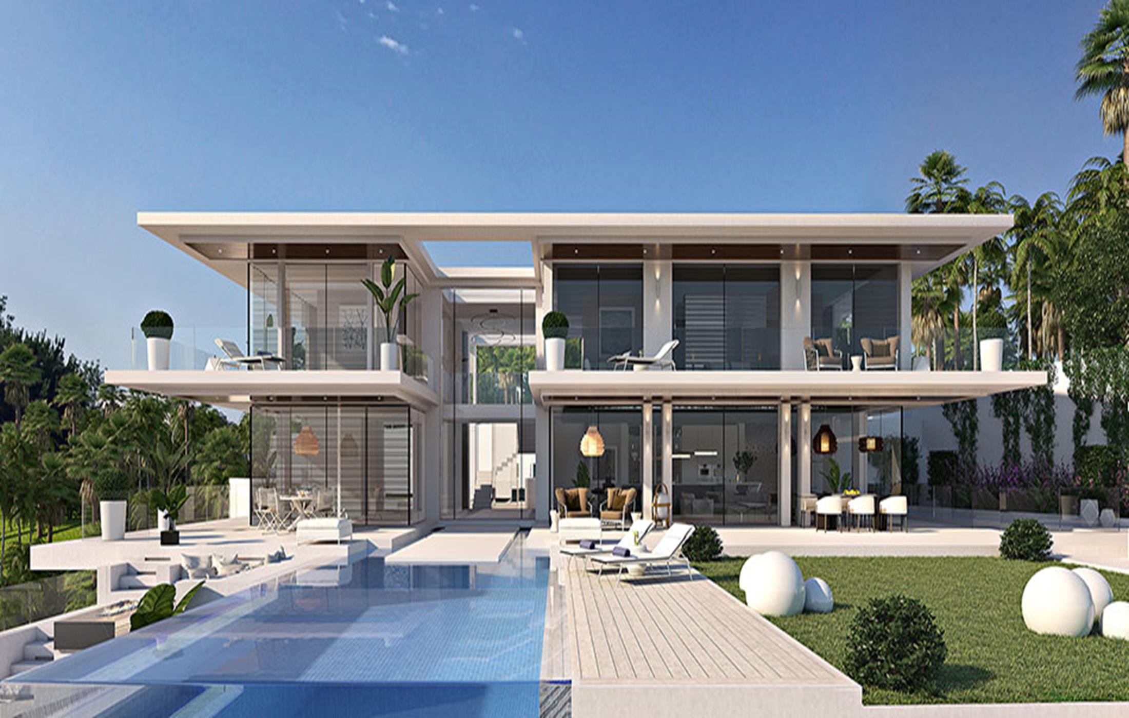 Villa moderna de estilo Californiano en Benahavis