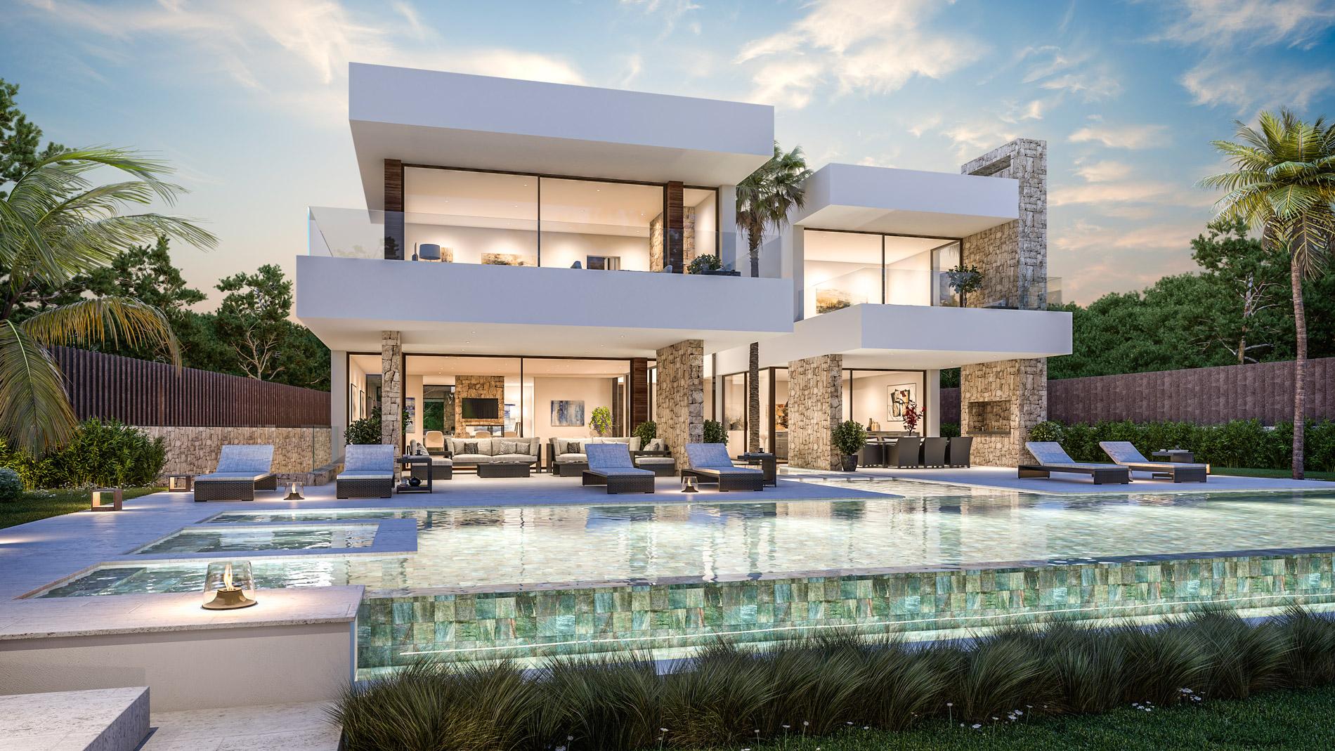 Magnifica villa contemporánea en Guadalmina Baja