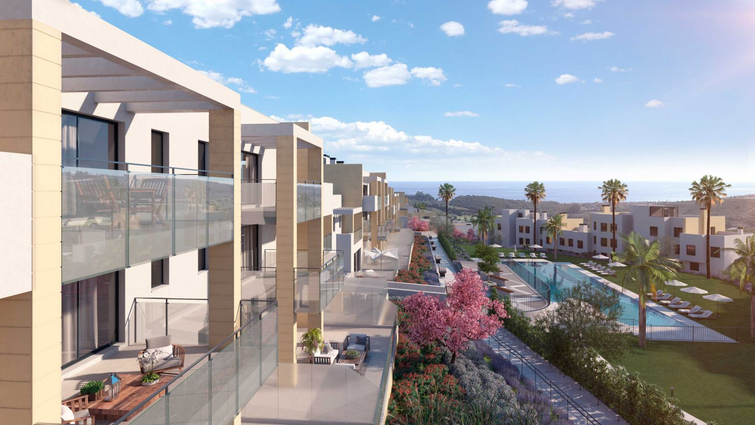 Residential complex near golf in Casares.