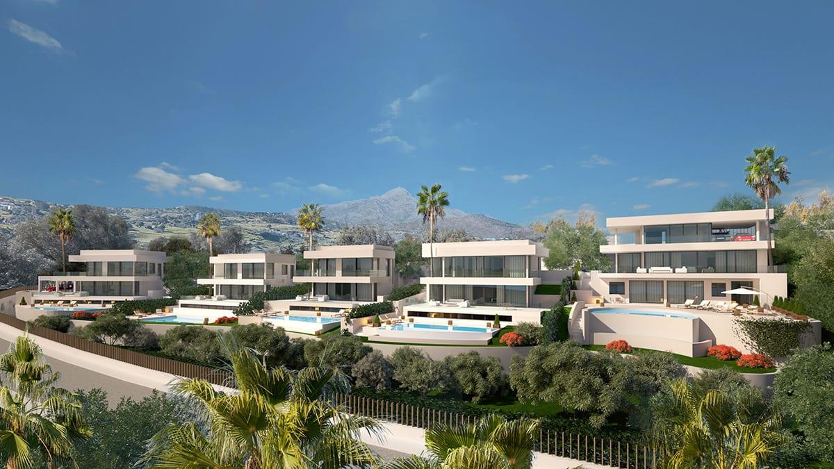 Complex of 5 detached villas in The Golden Mile
