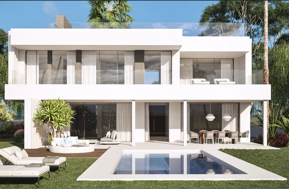 Modern south facing villas with sea views in Cancelada Norte