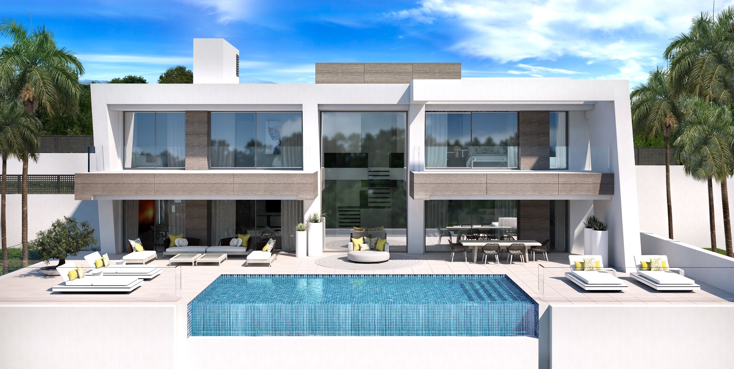 Modern luxury villas in El Paraiso, Estepona.