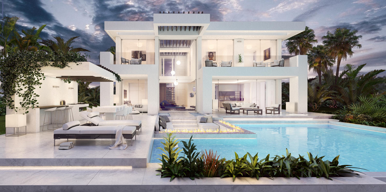Elegante villa de estilo moderno en Estepona