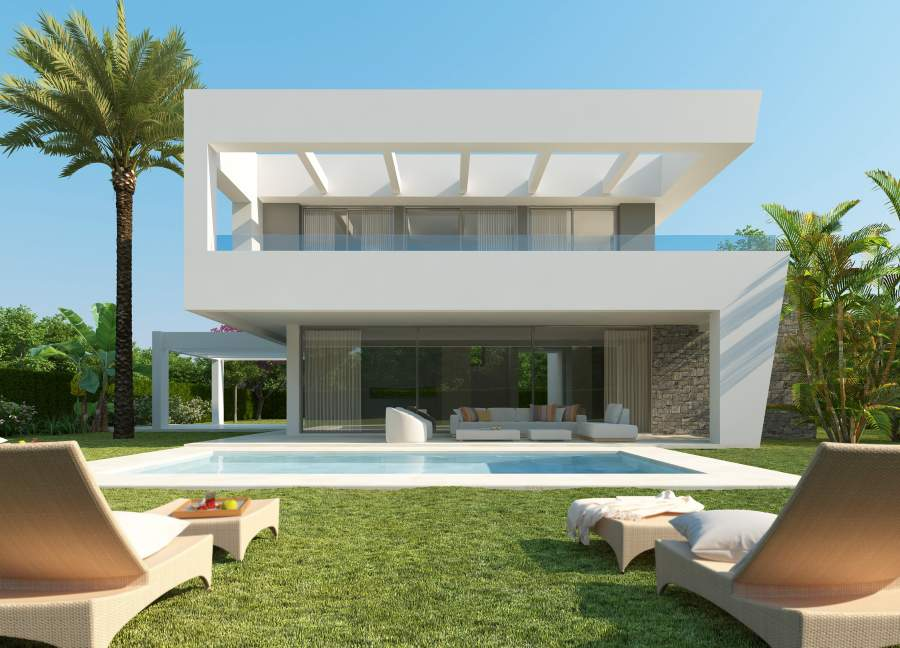 Complex of contemporary villas in Rio Real, Marbella