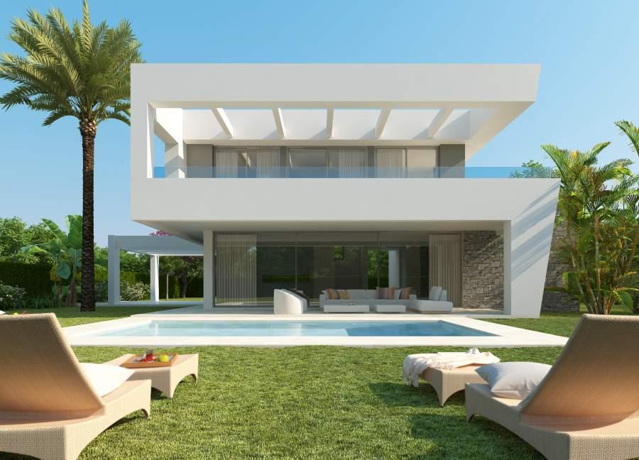 Complex of contemporary villas in Rio Real, Marbella