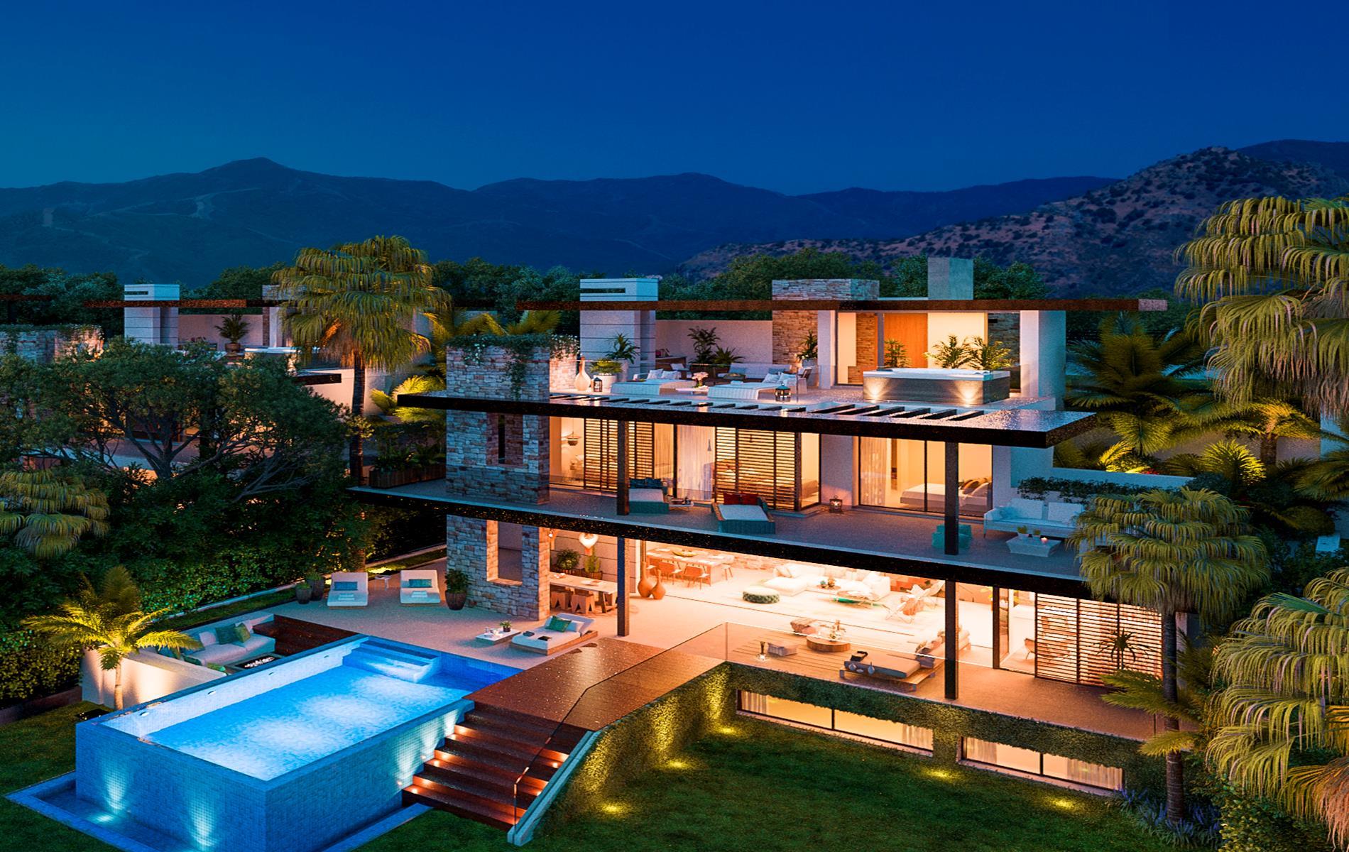 Exceptional promotion of villas in La Alquería, Benahavis.