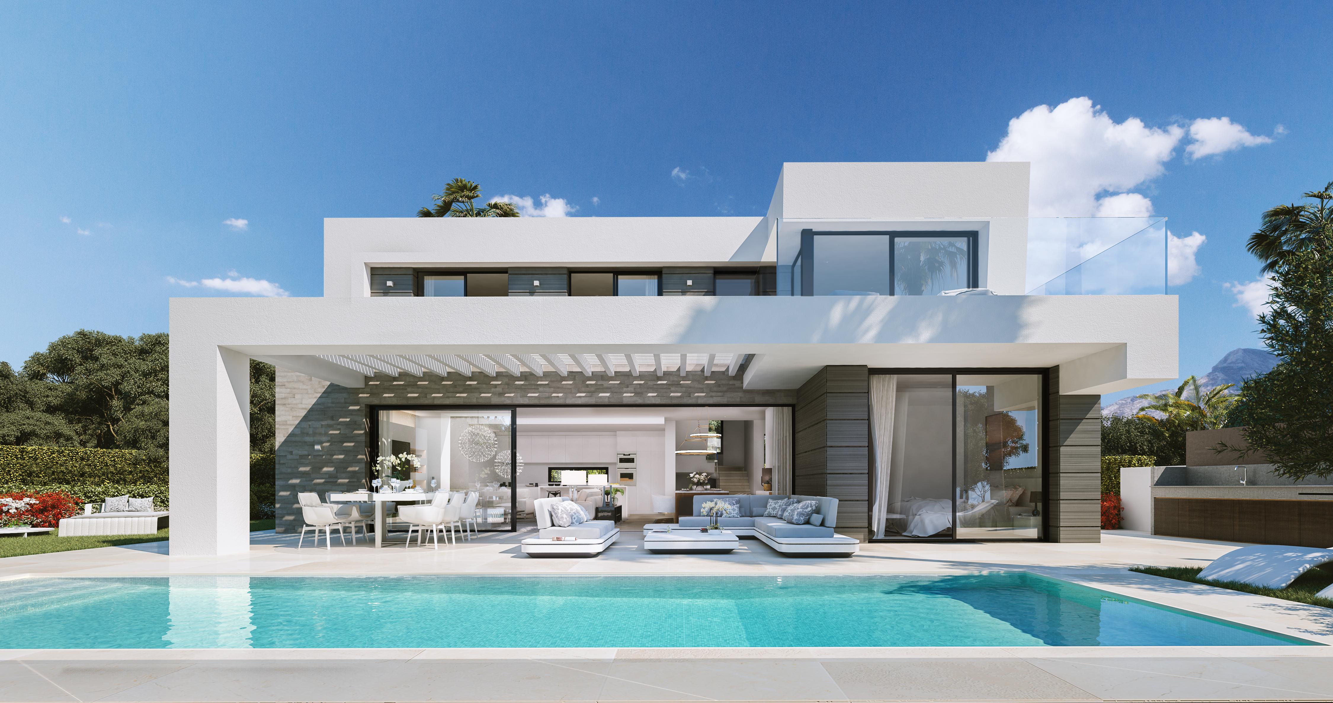 New development of contemporary villas in Cabopino