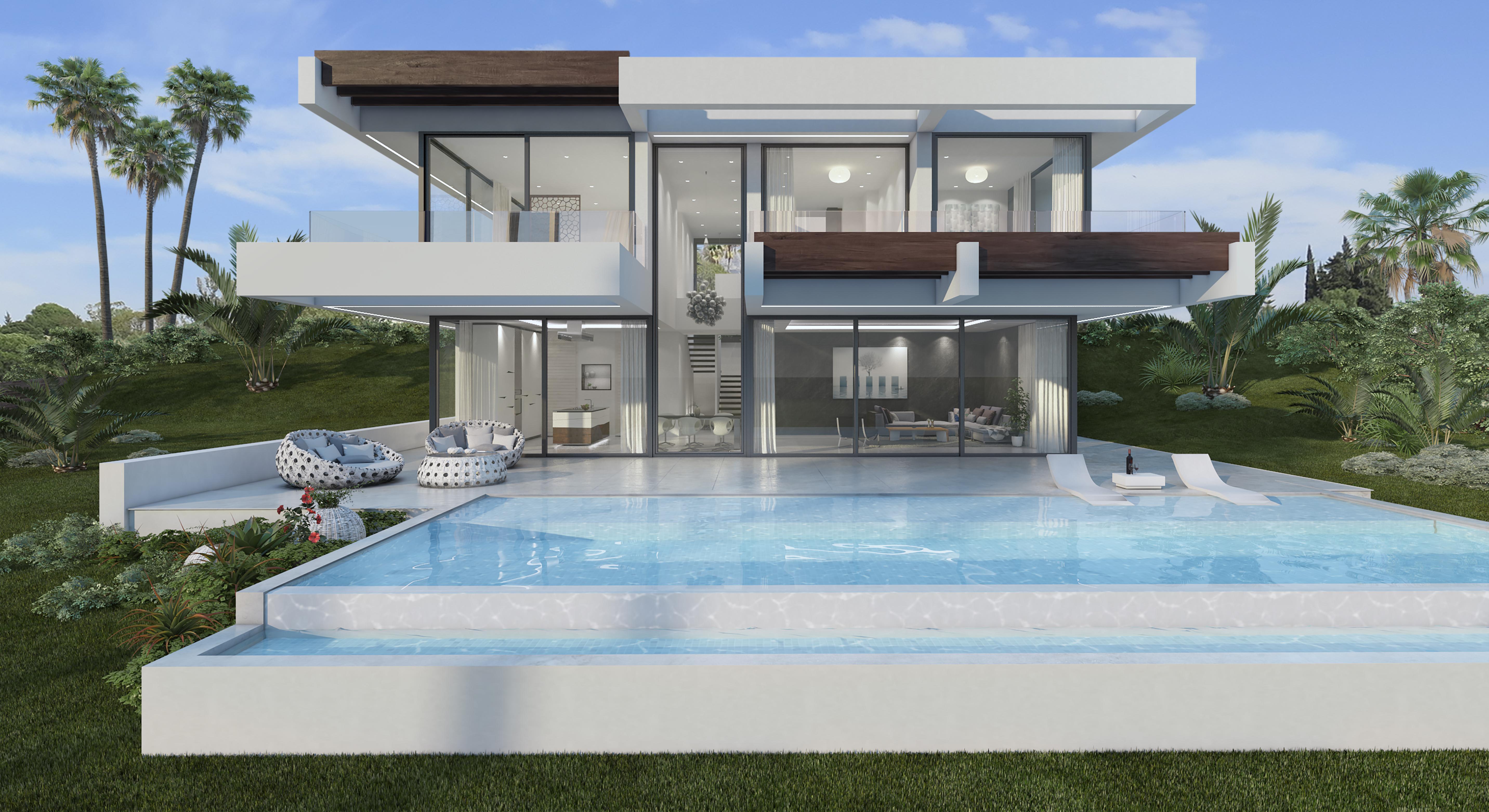 Preciosa villa de estilo contemporáneo en Estepona